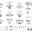 ������, ������: Golf country club logo labels icons and design elements