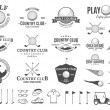 Постер, плакат: Golf country club logo labels icons and design elements