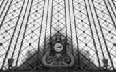 The old clock in a Railways station — Foto Stock