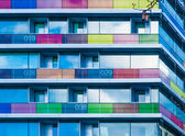 Colored balconies — Stock Photo