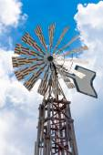 Windmills on sky background vertical — Foto de Stock