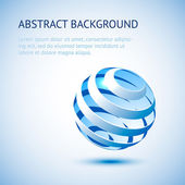 Blue sphere background. — Stock Vector