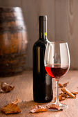Wineglass with bottle — Stock Photo
