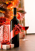 Excellent wine bottle gift — Stock Photo
