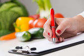 Nutritionist's desk — Stock Photo