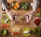 Food and cooking app — Stock Photo
