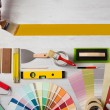 Painting and decorating DIY banner — Stock Photo #70862465