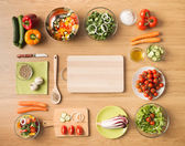 Healthy vegetarian home made food — Stock Photo