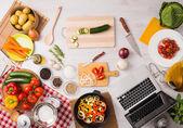 Creative kitchen — Stock Photo