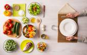 Healthy vegetarian meal — Stock Photo