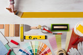 Painting and decorating DIY banner — Stock Photo