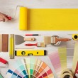 Painting and decorating DIY banner — Stock Photo #71737607