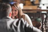 Meeting at the bar — Stock Photo