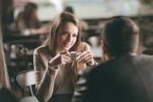 Couple dating at the bar — Stock Photo