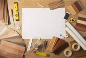 DIY work table with copy space — Stock Photo