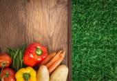 Taze hasat sebzeler — Stok fotoğraf