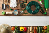 Gardening and farming banner — Stock Photo