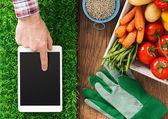 Gardening app — Stock Photo