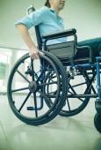 Woman in wheelchair portrait — Stock Photo