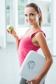 Fitness and healthy eating — Stock Photo