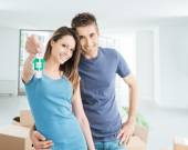 Couple buying their new house — Stock Photo