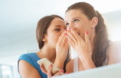 Girls gossiping and having fun — Stock Photo