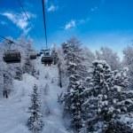 Ski lift in French Alps — Stock Photo #54964667