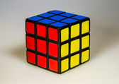 Cube on the gray background — Stockfoto