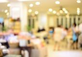 Blur white interior restaurant — Stock Photo