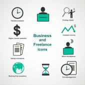 Business and freelance icons — Stock Vector