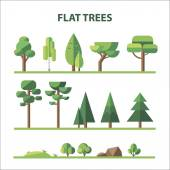 Flat forest — Stock Vector