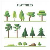 Плоский лес — Cтоковый вектор