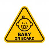 Baby on board sign. — Stock Vector