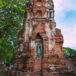 Standing Buddha statue inside ruined pagoda at Ayuttha Historica — Stock Photo #58432357