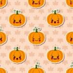 Kawaii Halloween seamless pattern — Stock Vector #55384415