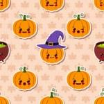 Kawaii Halloween seamless pattern — Stock Vector #55388695
