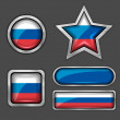 Russian flag icons — Stock Vector #56726187