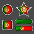 Portugal flag icons — Stock Vector #56726213