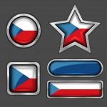 Czech flag icons — Stock Vector #56726255