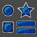 European union flag icons — Stock Vector #56726445
