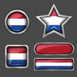 Holland flag icons — Stock Vector #56726577