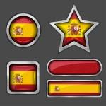 Spain flag icons — Stock Vector #56726643