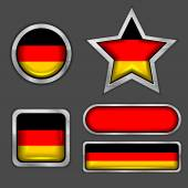 German flag icons — Stock Vector
