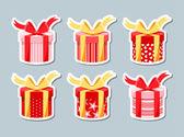 Set of gift boxes — 图库矢量图片