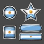 Argentina flag icons — Stock Vector