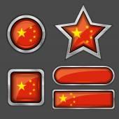 China flag icons — Stock Vector