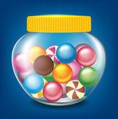 Jar of sweets — ストックベクタ