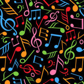 Pattern with music notes — Stockvector