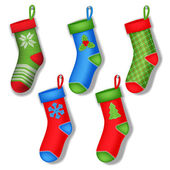 Christmas socks — Stock Vector