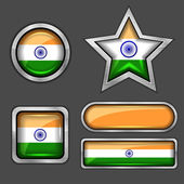 India flag icons — Stock Vector